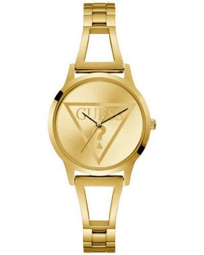 Żółty złoty zegarek Guess