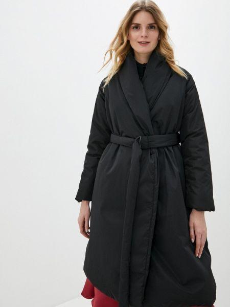 Теплая черная утепленная куртка Sultanna Frantsuzova