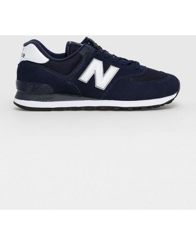 Sneakersy skorzane granatowe sznurowane New Balance