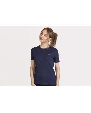 T-shirt bawełniana - granatowa Lacoste