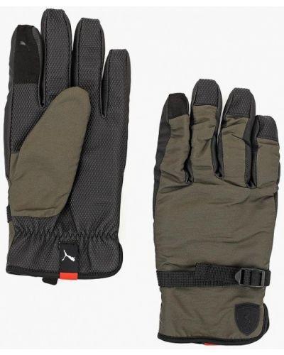 Серые перчатки спортивные Puma