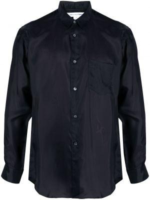 Шелковая с рукавами черная классическая рубашка Comme Des Garçons Shirt