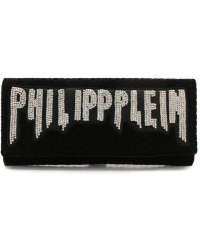 Сумка вечерняя бархатная Philipp Plein