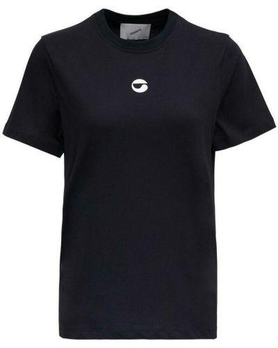 Czarna T-shirt z nadrukiem z printem Coperni
