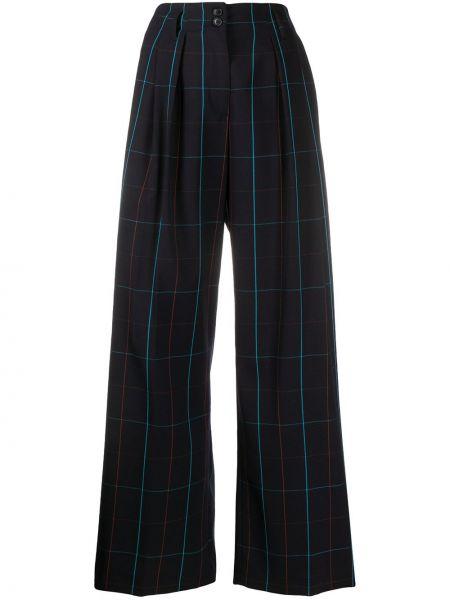 Шерстяные черные брюки свободного кроя Paul Smith