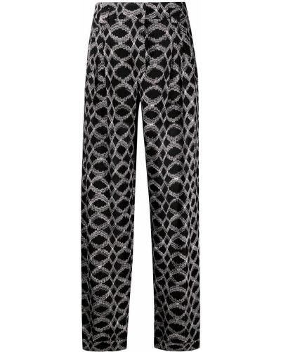 Черные с завышенной талией брюки с карманами Missoni