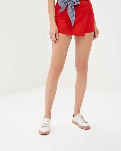 Красная юбка шорты Jennyfer