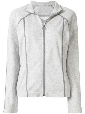 Прямая серая спортивная куртка с воротником Chanel Pre-owned