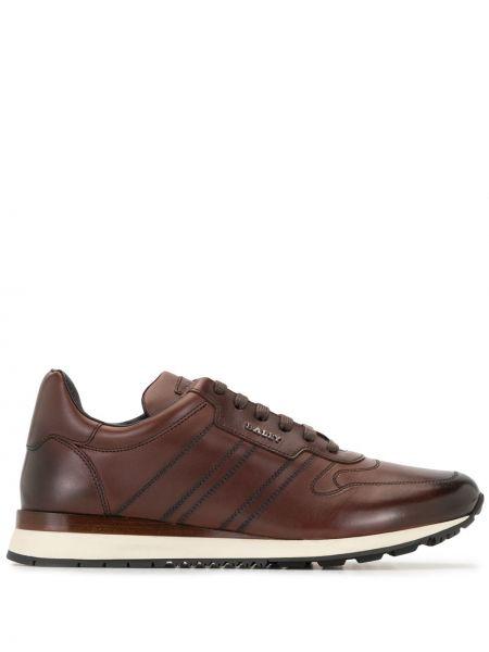 Кожаные кроссовки - коричневые Bally