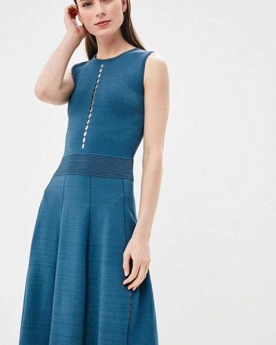 Синее платье весеннее Rodier