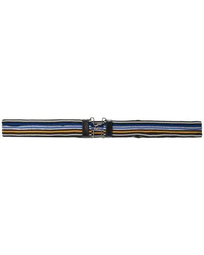 Ремень металлический в полоску Prada
