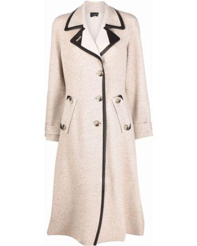 Розовое длинное пальто Giorgio Armani