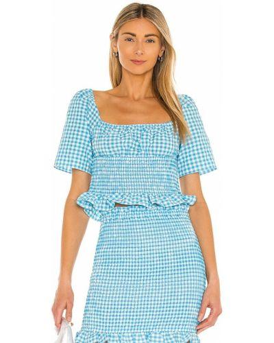 Синяя блузка стрейч с американской проймой Bcbgeneration