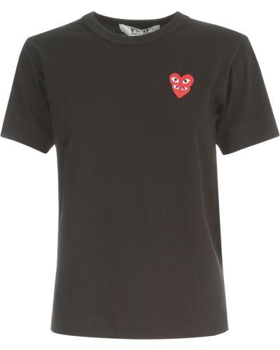 Czarny t-shirt Comme Des Garcons Play