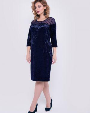 Вечернее платье в горошек со вставками тм леди агата
