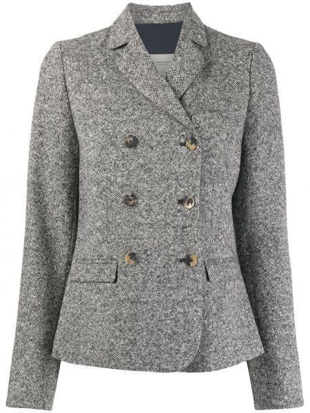 Черный приталенный классический пиджак с карманами Holland & Holland
