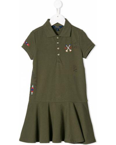 Платье с рукавами зеленый короткое Ralph Lauren Kids