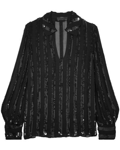 Bluzka z wiskozy - czarna Nili Lotan