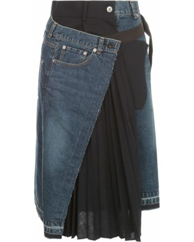 Niebieska spódnica jeansowa Sacai