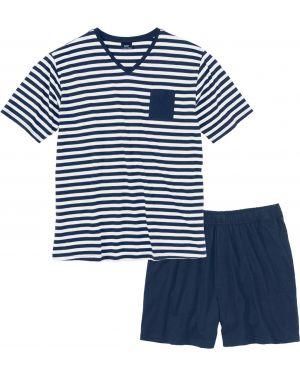 Пижама свободная синий Bonprix