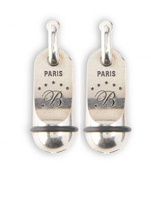 Клипсы - серебряные Balenciaga
