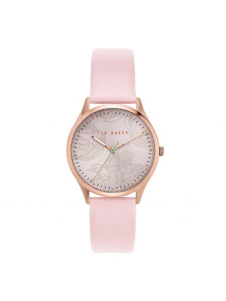 Różowy złoty zegarek Ted Baker