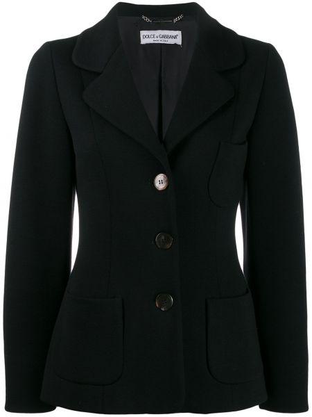 Пиджак черный винтажный Dolce & Gabbana Pre-owned