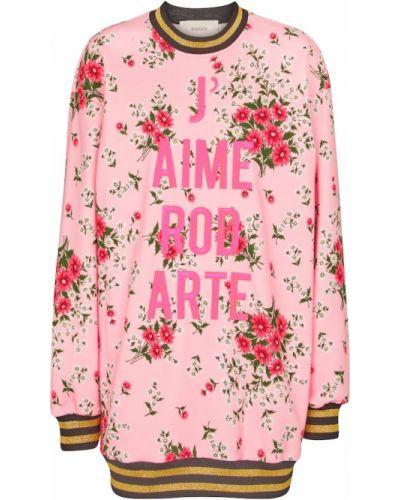 Платье с вышивкой - розовое Rodarte