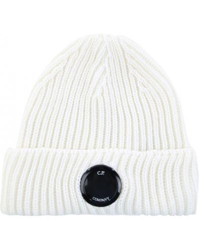 Biały kapelusz w paski na co dzień C.p. Company