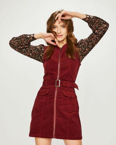 Платье мини с поясом трикотажное Answear