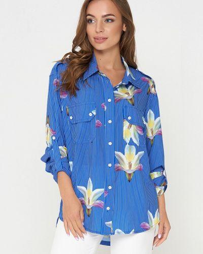Блузка синяя весенний Sellin