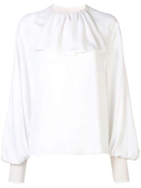 Блузка с рюшами белая Loewe