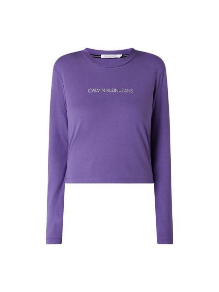 Bawełna bawełna karmazynowy bluzka z dekoltem Calvin Klein Jeans