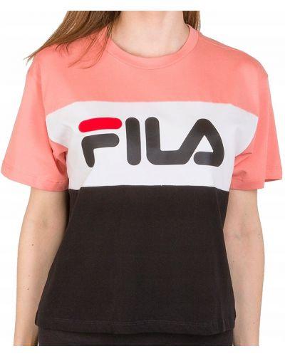 Bawełna bawełna czarny t-shirt Fila