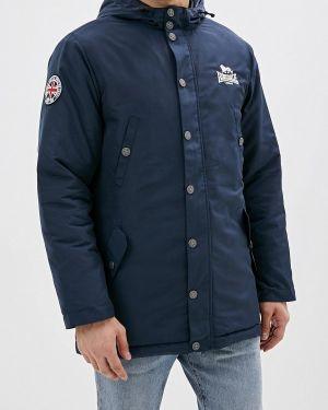 Утепленная куртка осенняя синяя Lonsdale
