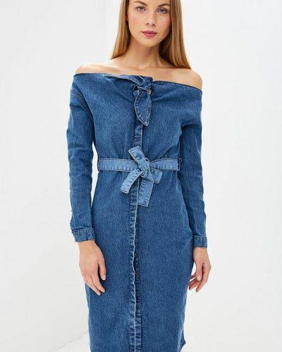 Джинсовое платье осеннее индийский Lost Ink.