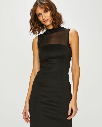 Черное платье мини закрытое на пуговицах Guess Jeans