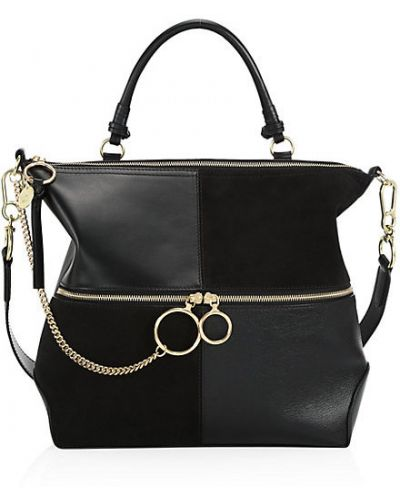 Ватный кожаный ранец с карманами See By Chlo