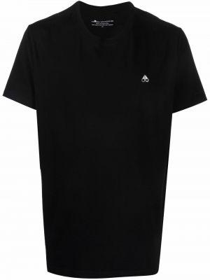 Хлопковая футболка - черная Moose Knuckles