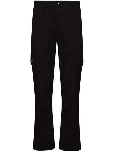 Bawełna bawełna spodni czarny bojówki Wtaps