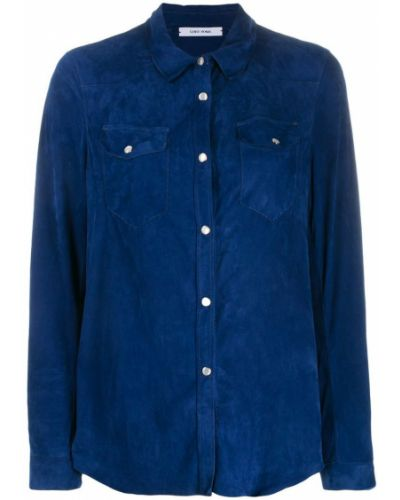 Синяя рубашка на пуговицах Gente Roma
