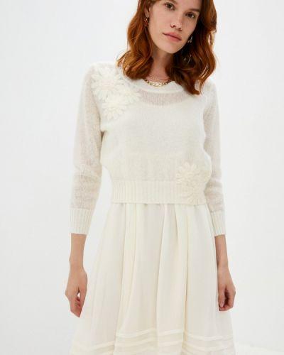 Повседневное белое повседневное платье Twinset Milano