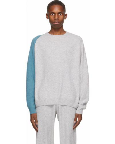 Niebieski z kaszmiru długi sweter z długimi rękawami Frenckenberger