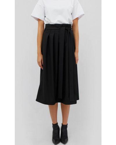 Плиссированная юбка черная Cardo