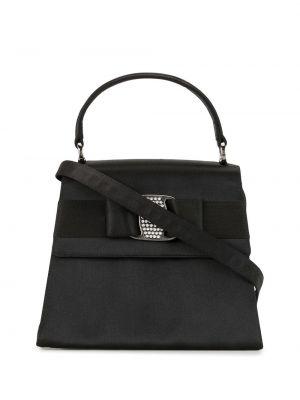 Черная сумка-тоут на молнии с карманами Salvatore Ferragamo Pre-owned