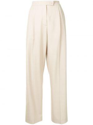 Beżowe spodnie wełniane Mrz