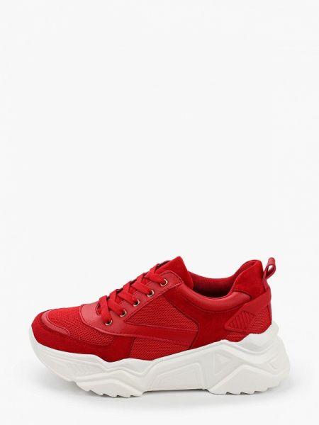 Красные текстильные кроссовки Saivvila