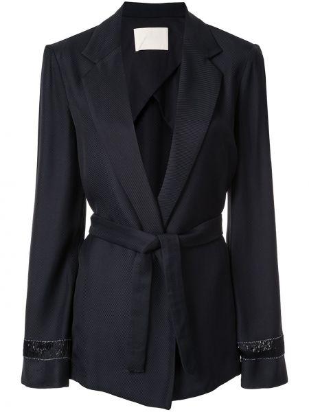 Черный пиджак с запахом Dion Lee
