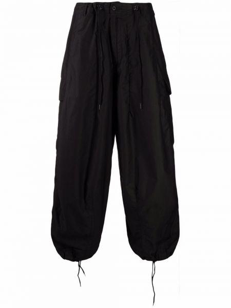 Czarne spodnie bawełniane Needles