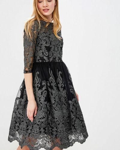 Черное коктейльное платье Chi Chi London
